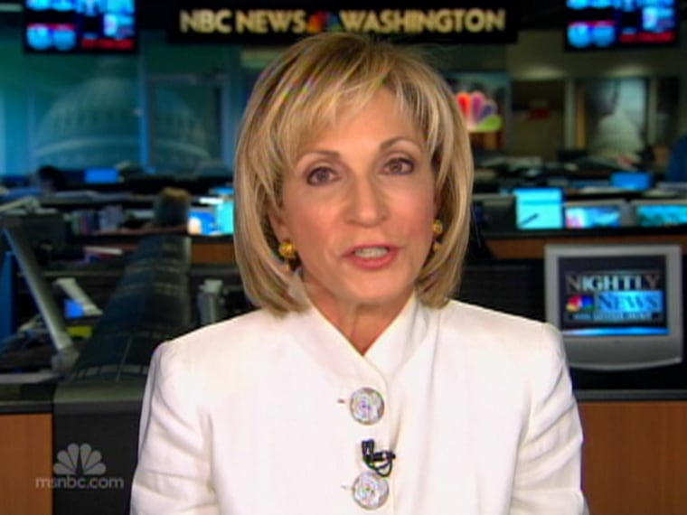 Andrea Mitchell on an April 4, 2009 Nightly News broadcast.
