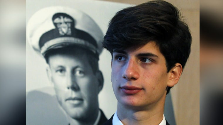 President John F. Kennedy's only grandson Jack Schlossberg is stepping into the spotlight, introducing the Obamas at the Presidential Medal of Freedom ceremony Wednesday.
