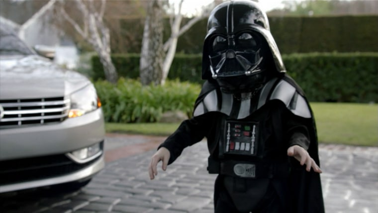 Volkswagen'sad featuring this young Darth Vader was rated the most popular of the Super Bowl.