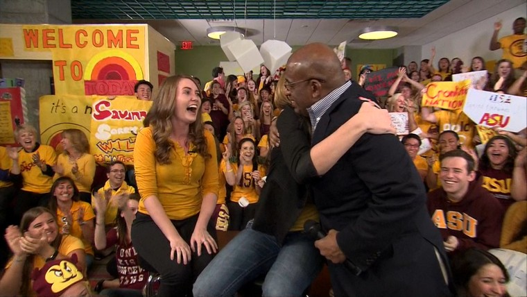 Al Roker surprises super fans from ASU.