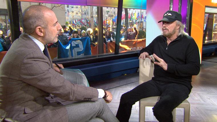 Matt Lauer and Barry Gibb