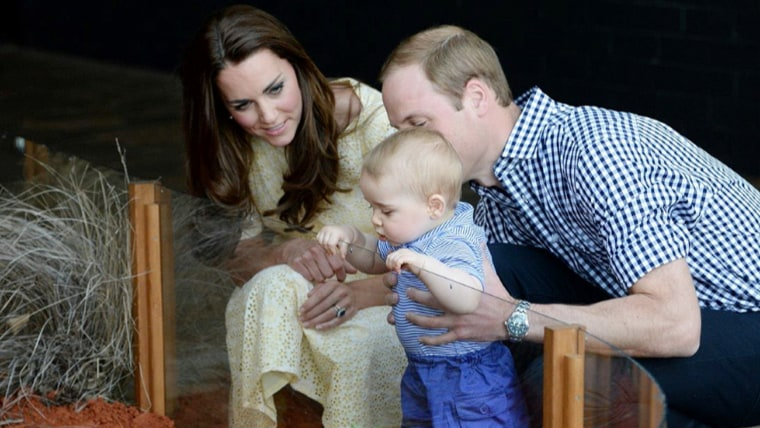Happy family: How Will, Kate and Prince George are stealing hearts worldwide