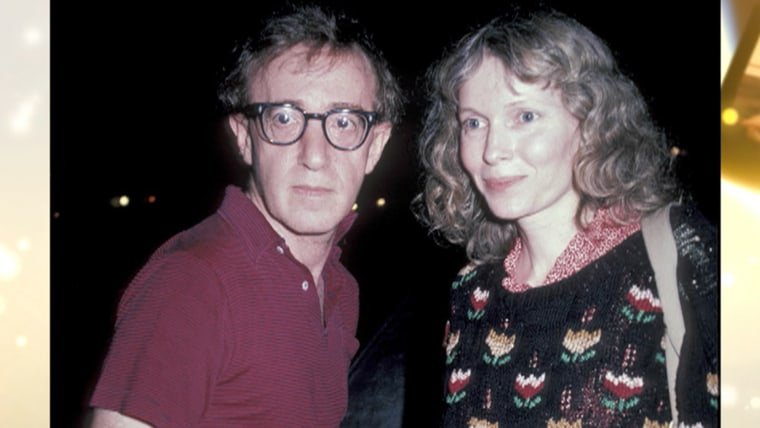 Image: Woody Allen and Mia Farrow.