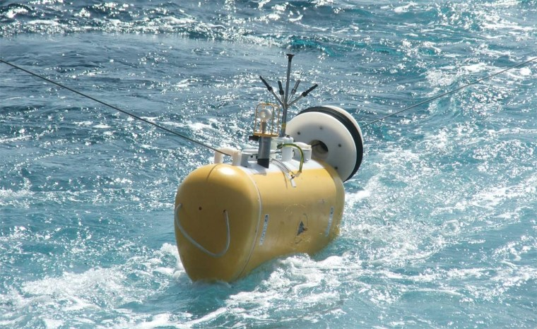 To find the ocean jets, the researchers used an autonomous instrument called the Profiler, which travels along a mooring wire up and down between depths of 3,281 and 11,483 feet, all the while taking measurements of currents, temperature and pressure.