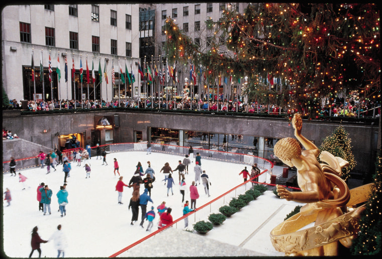 The Rink at Rockefeller Center in New York City offers 90-minute ice-skating sessions through Jan. 9.