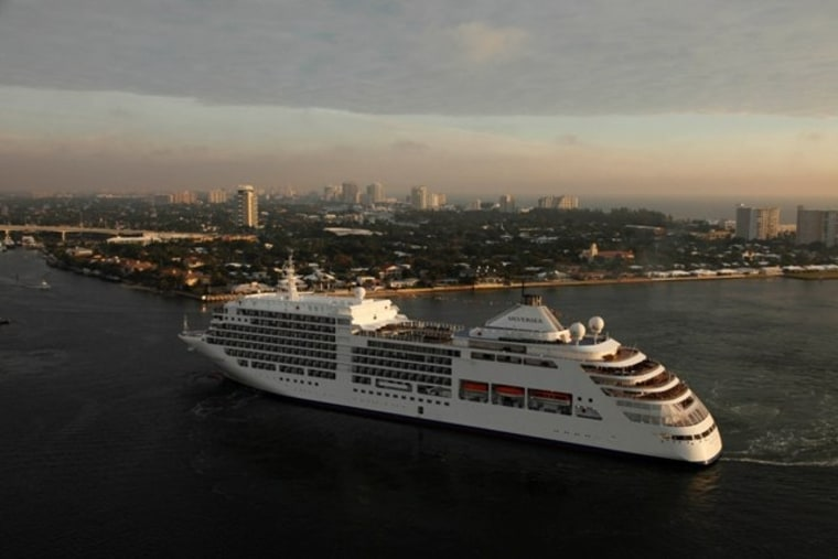 Silversea Cruises' Silver Spirit sails the high seas.