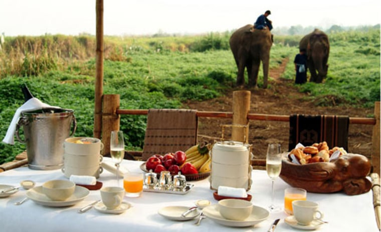 No.1 spot: Four Seasons Tented Camp Golden Triangle, Chiang Rai, Thailand.