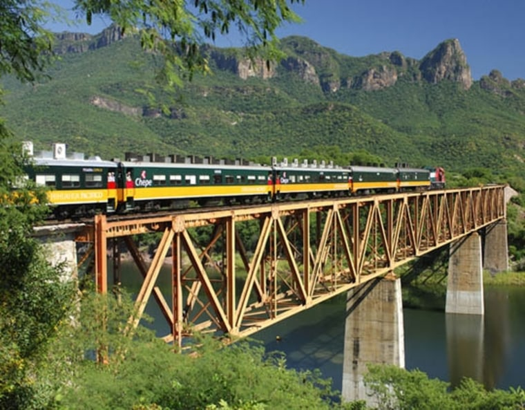 In El ChePe, Mexico, take a scenic 13-hour ride aboard the most modern, comfortable passenger train in Mexico, as it chugs along the Ferrocarril Chihuahua al Pacifico, also known as the Copper Canyon Railway.