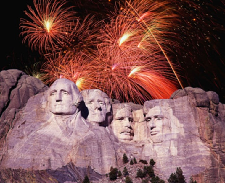 Perhaps America's most dramatic setting for fireworks is sculptor Gutzon Borglum's Mount Rushmore in the Black Hills of South Dakota, where some 12,000 folks gather each July 3 (to avoid conflicts with other celebrations). Where to View: The memorial park's Grand View Terrace and amphitheater are ideal spots.