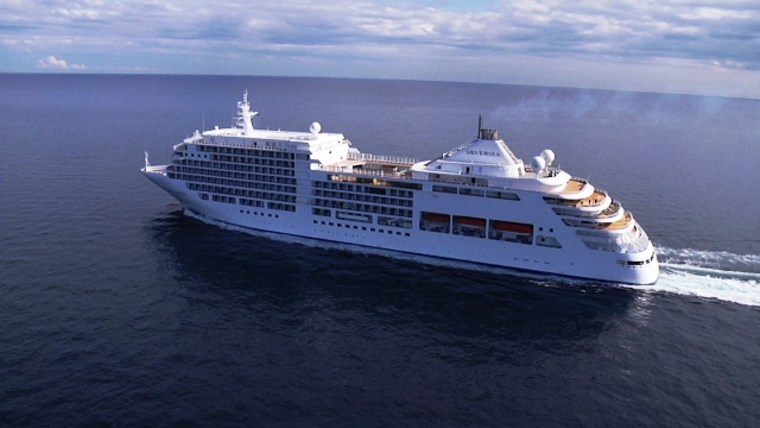 Silversea Cruises' Silver Spirit out on sea trials.