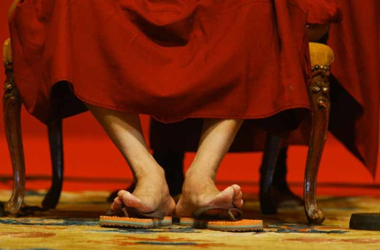 Feet of the Dalai Lama