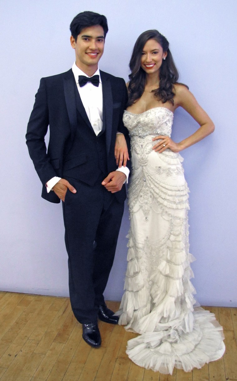 Vote for the wedding dress and tux!