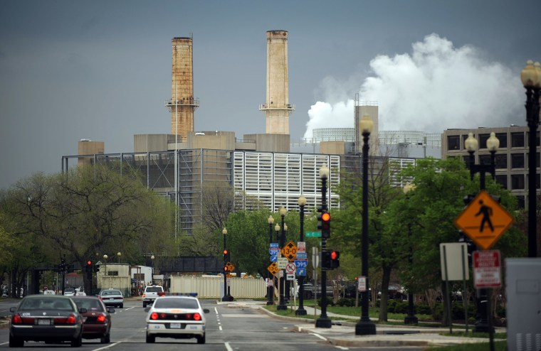 The Capitol Power Plant in Washington, D.C., provides steam and cooled water for the Capitol.