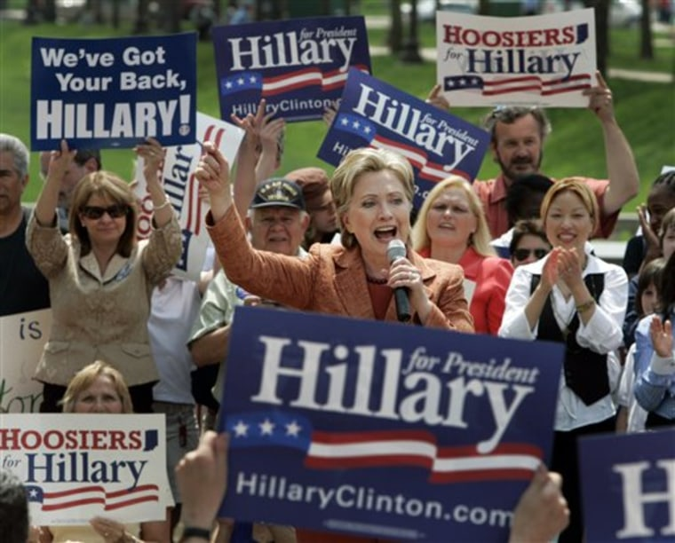 Presidential hopeful Sen. Hillary Clinton, D-N.Y., has made a point, since the Pennsylvania primary, of telling her supporters that her rival, Sen. Barack Obama, D-Ill., is outspending her.