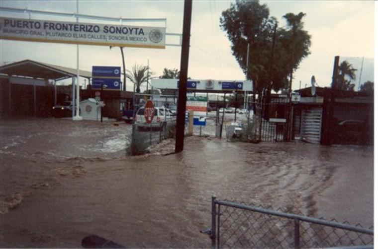 Border Fence Floods