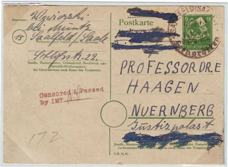 Holocaust Letter Exhibit