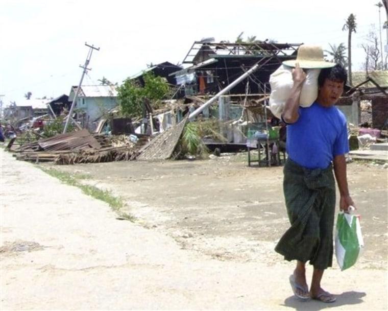 APTOPIX Myanmar Cyclone