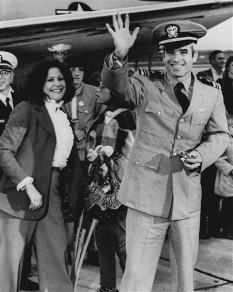 Sen. John McCain, R-Ariz., is one of the few leading presidential candidates to have spent any time in a military uniform.