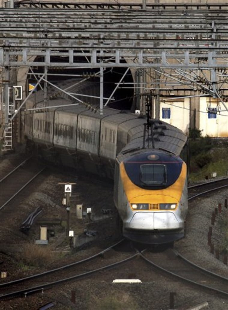 France Channel Tunnel Fire