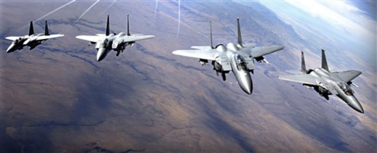 Grounded F-15s