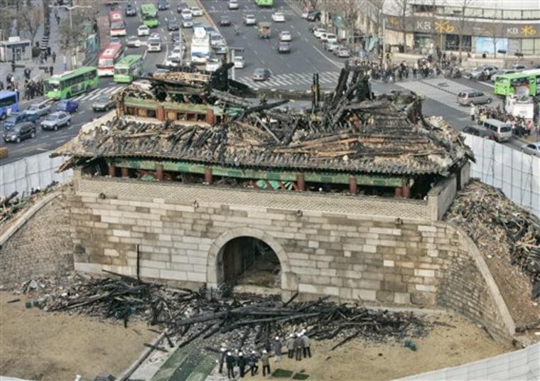 South Korea Landmark Destroyed