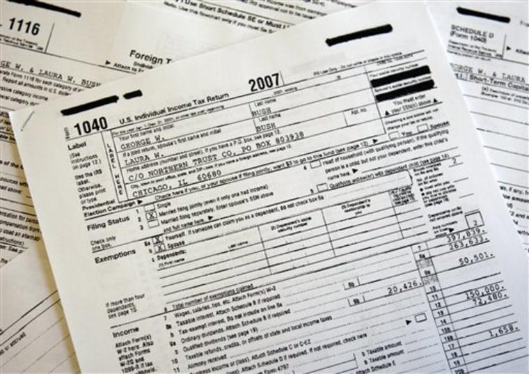 Bush Taxes