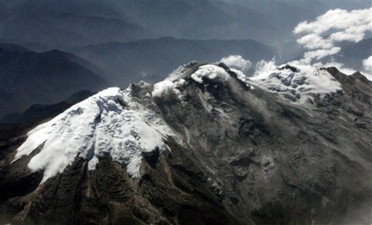 Colombia Volcano Erupts