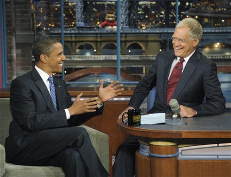 People Letterman Obama 2008