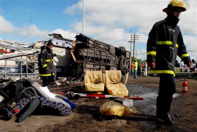 Argentina Train Bus Accident