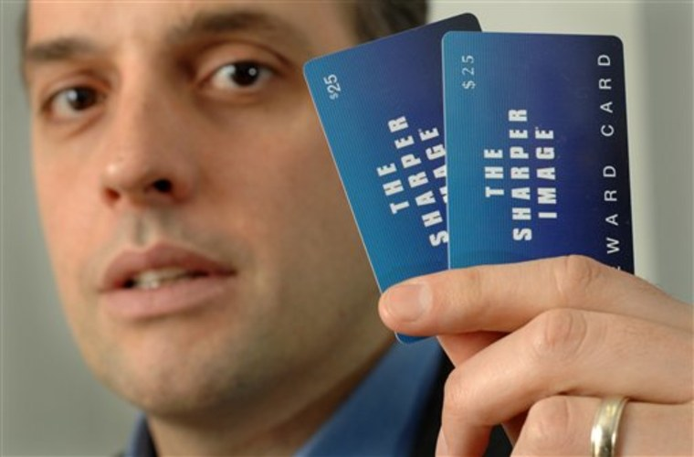 Bankruptcy Gift Cards