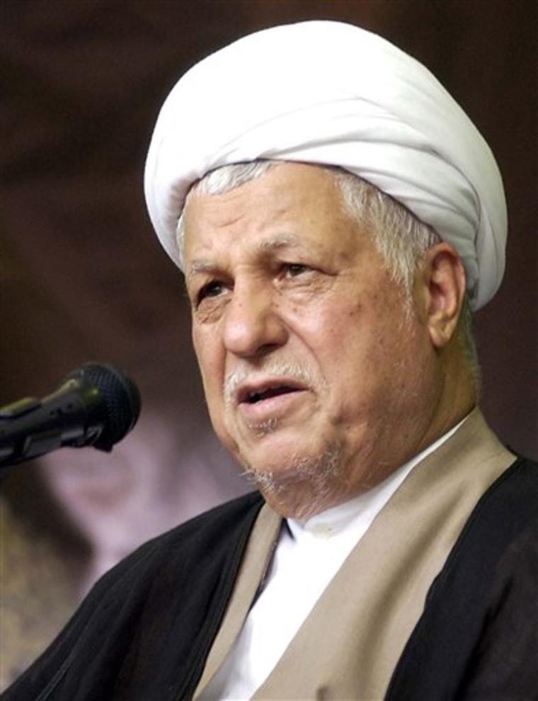Iran Rafsanjanis Role