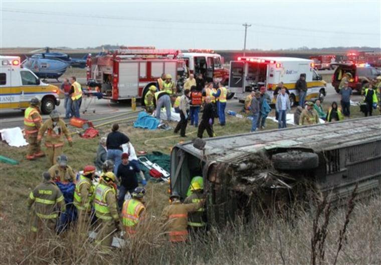 CORRECTION Tour Bus Crash