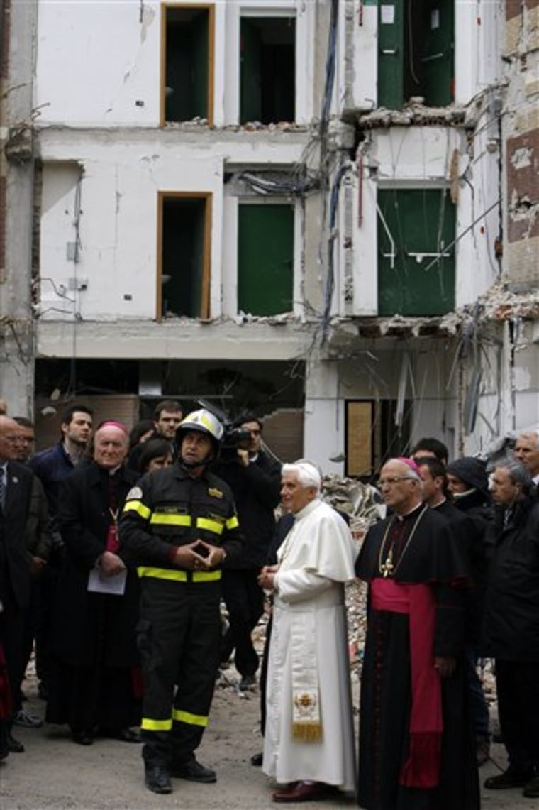 ITALY POPE EARTHQUAKE