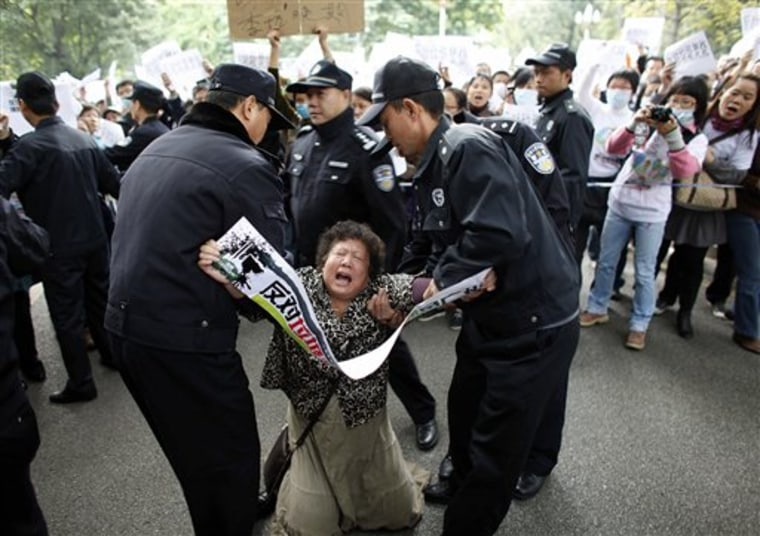China Incinerator Protest