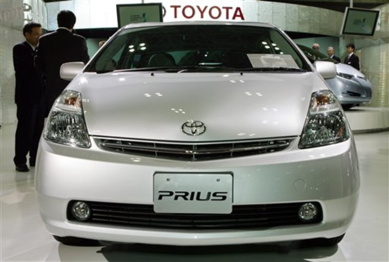 Toyota denied a report quoting a former executive that the Japanese government had underwritten the development of the Prius hybrid.