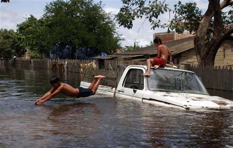 APTOPIX Bolivia Floods