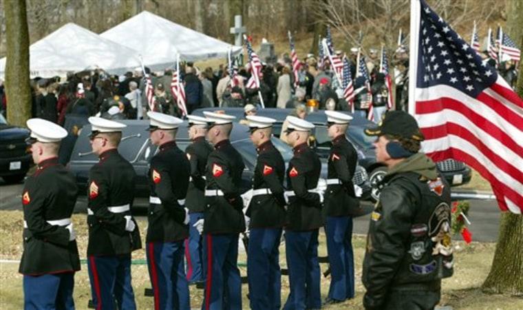 APTOPIX Missing Marine  Funeral