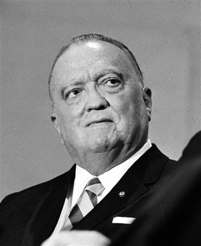 Prominent columnist Jack Anderson once wrote that J. Edgar Hoover, pictured, who ran the Federal Bureau of Investigation until well into his 80s, should have resigned a decade earlier.