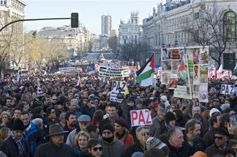 Spain Mideast Israel Palestinians Reax