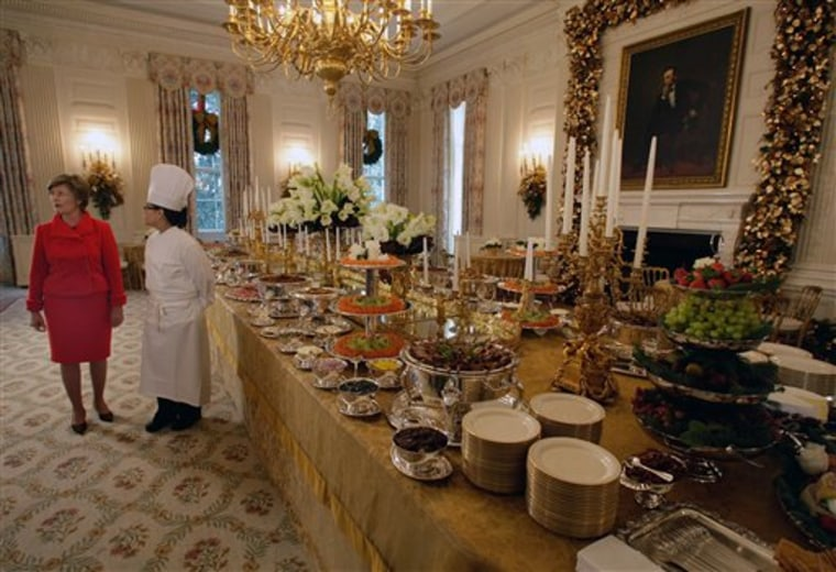 Decorations are finally in place for an expected 60,000 people touring the White House this year during the holiday season.