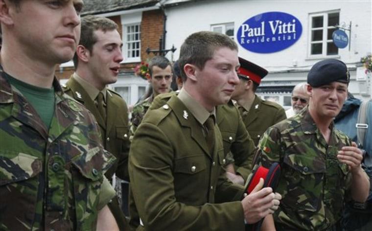 APTOPIX Britain Soldiers Return