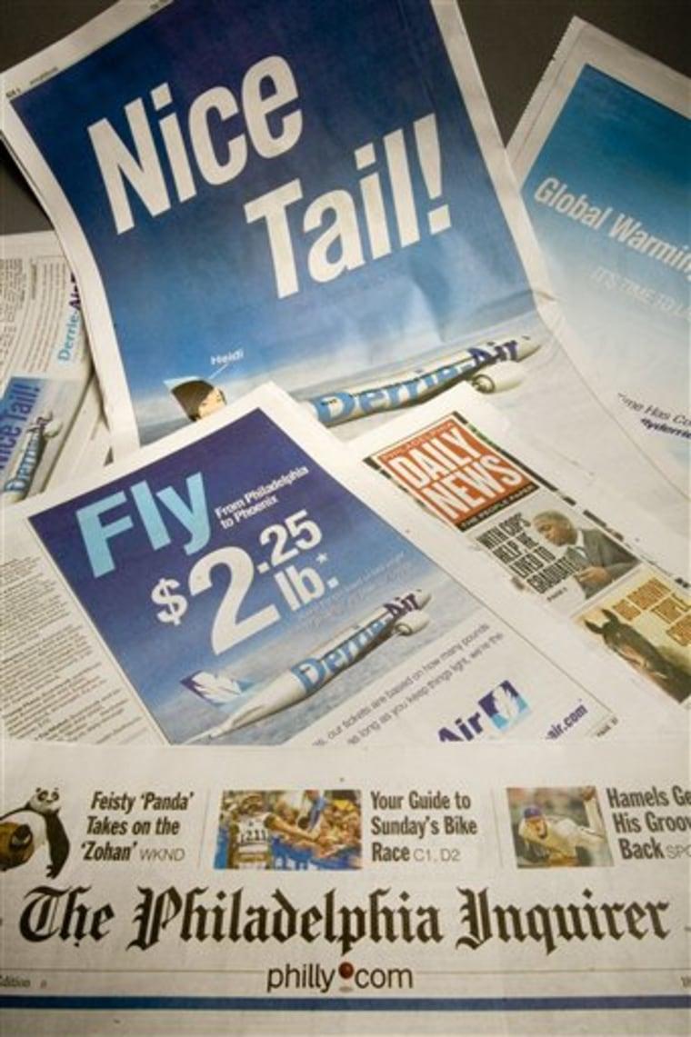 Philadelphia Newspapers Fake Ads