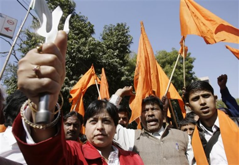 India Valentine Protest