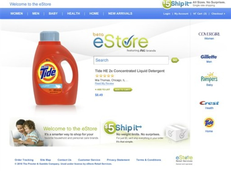 Procter and Gamble Online