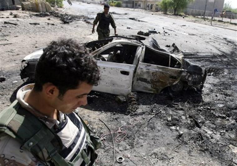 APTOPIX IRAQ CAR BOMB