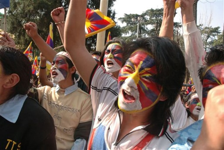 India Tibet Protest March