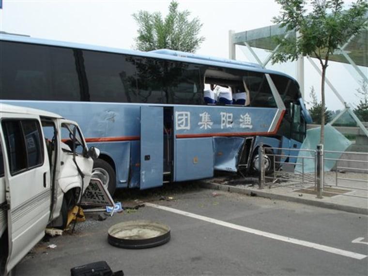 Beijing Olympics Rowing Bus Crash