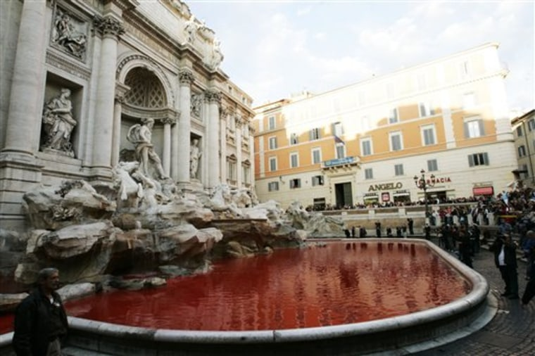 ITALY RED TREVI FOUNTAIN