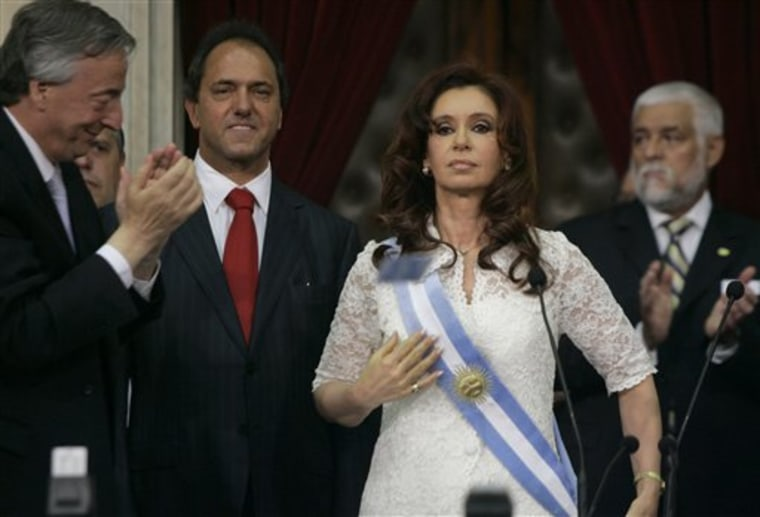 APTOPIX Argentina Inauguration