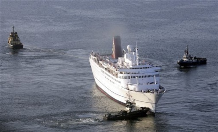 Latvia Stranded Cruise Ship